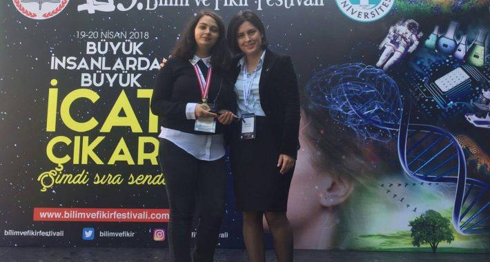 Üsküdar Üniversitesi Bilim ve Fikir Festivali  Sağlık Alanı Mansiyon Ödülü