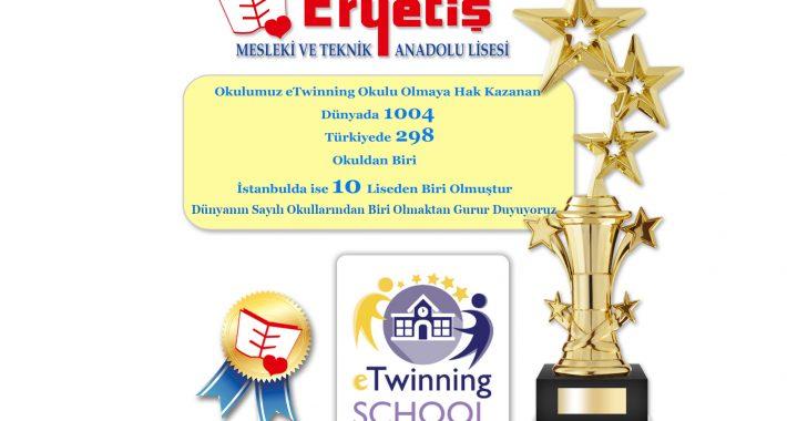 2019-2020 e-Twinning Okulu Etiketi ile ödüllendirilmiştir.