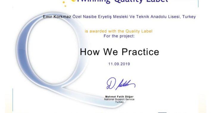 Eryetiş'te eTwinning Ulusal Kalite Etiketi Ödülü Sevinci