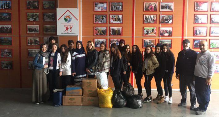 """Özel Nasibe Eryetiş Mesleki ve Teknik Anadolu Lisesi öğrencileri """"değerlerini ve diğerlerini"""" unutmuyor, yardımlaşmaya devam ediyor."""