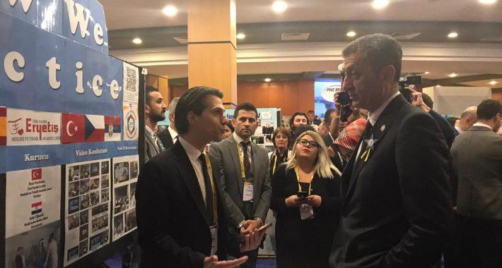 eTwinning 10. Ulusal Konferansında Milli Eğitim Bakanımız Sayın Prof.Dr. Ziya SELÇUK Standımızı Ziyaret Etmişlerdir