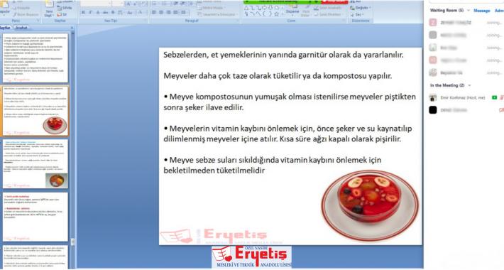 Sebzelerin Porsiyonlanması ve Tüketimi